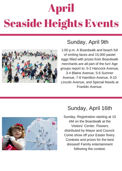 April Seaside Heights Events