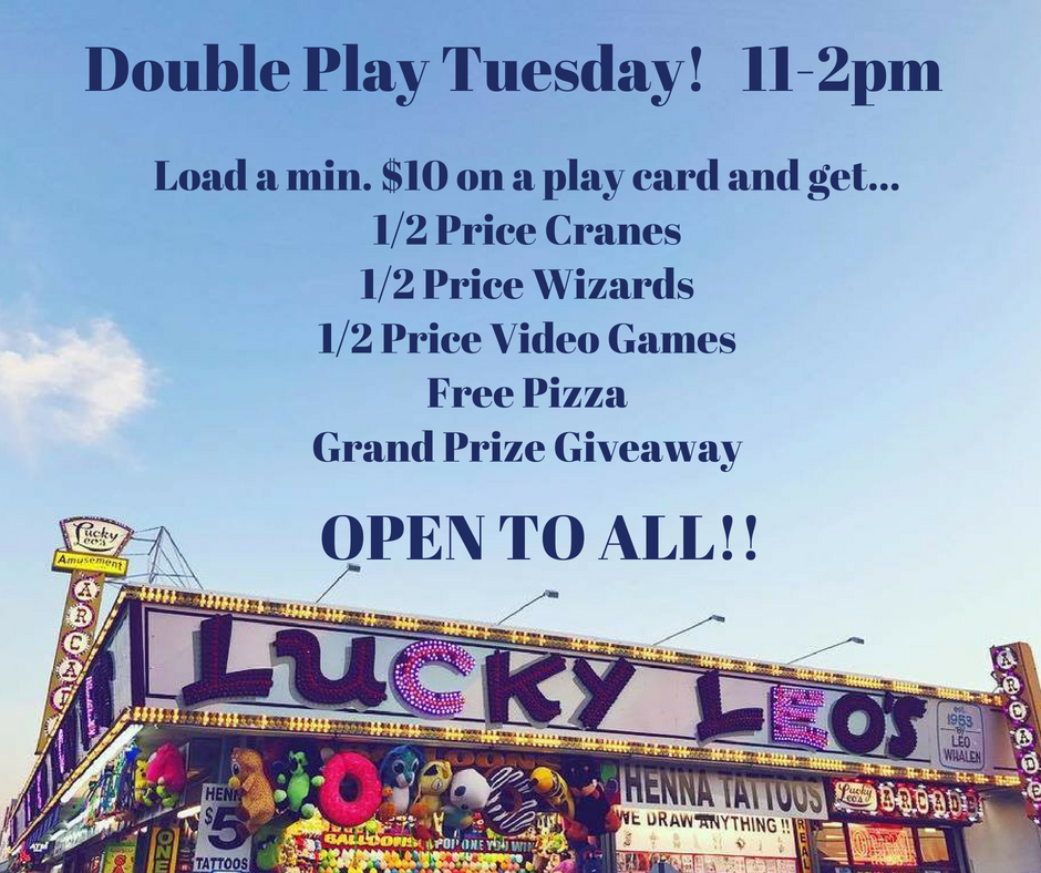 Double Play Tuesday! 11-2pm