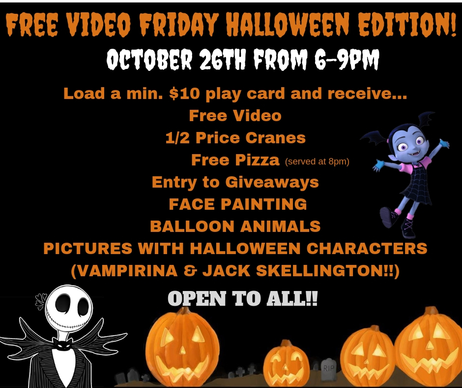 Free Video Friday Halloween Edition!