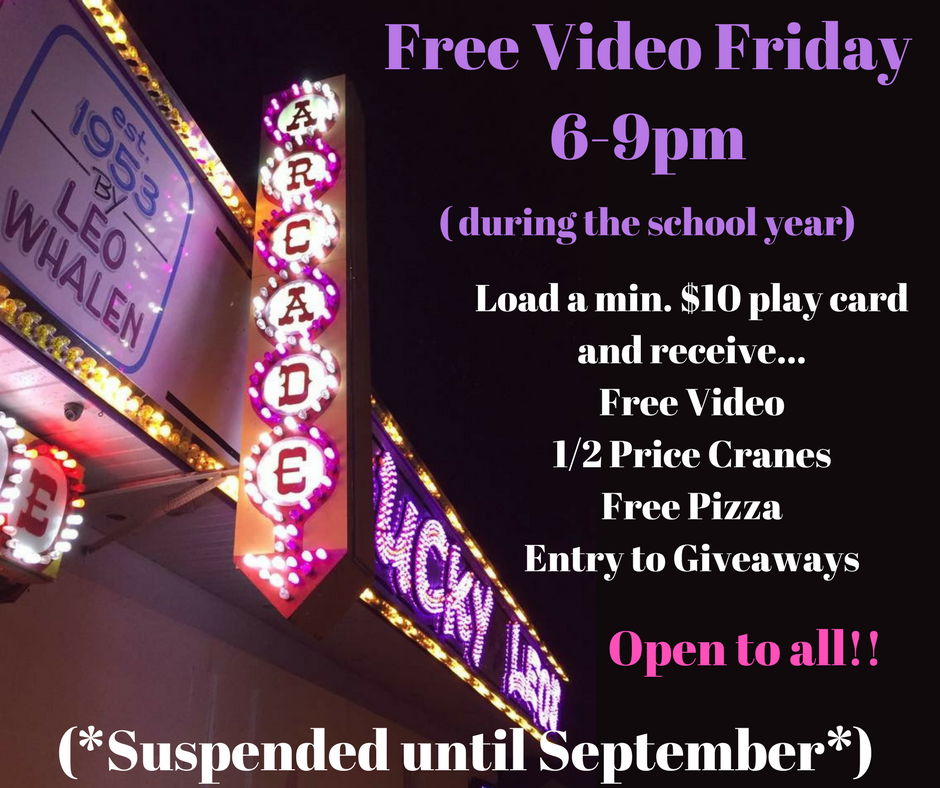 Free Video Friday6-9pm (2)