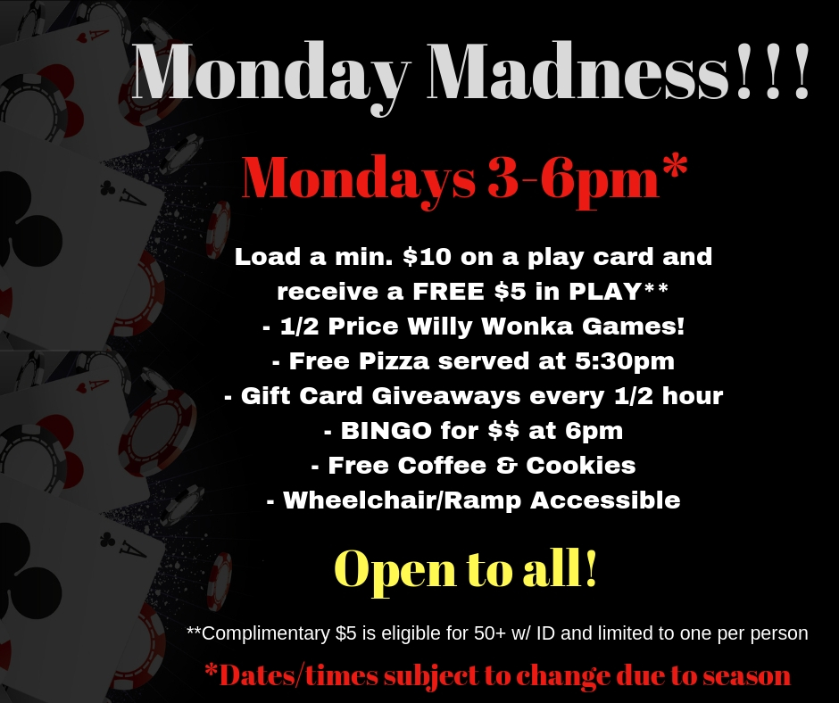 Monday madness flyer