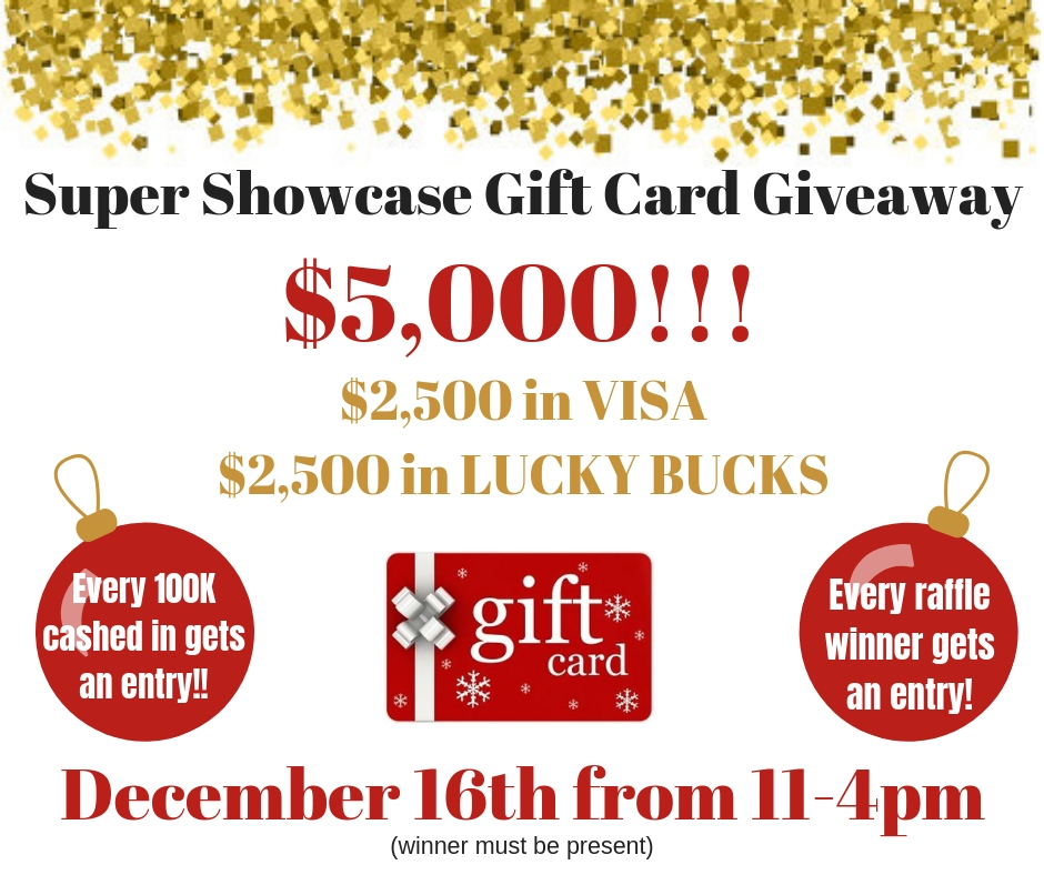 Super Showcase Gift Card Giveaway