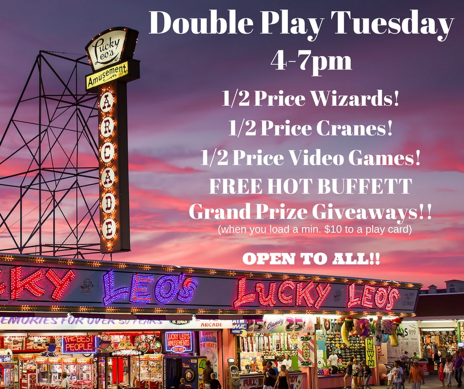 DOUBLE PLAY TUESDAY 4-7 buffet